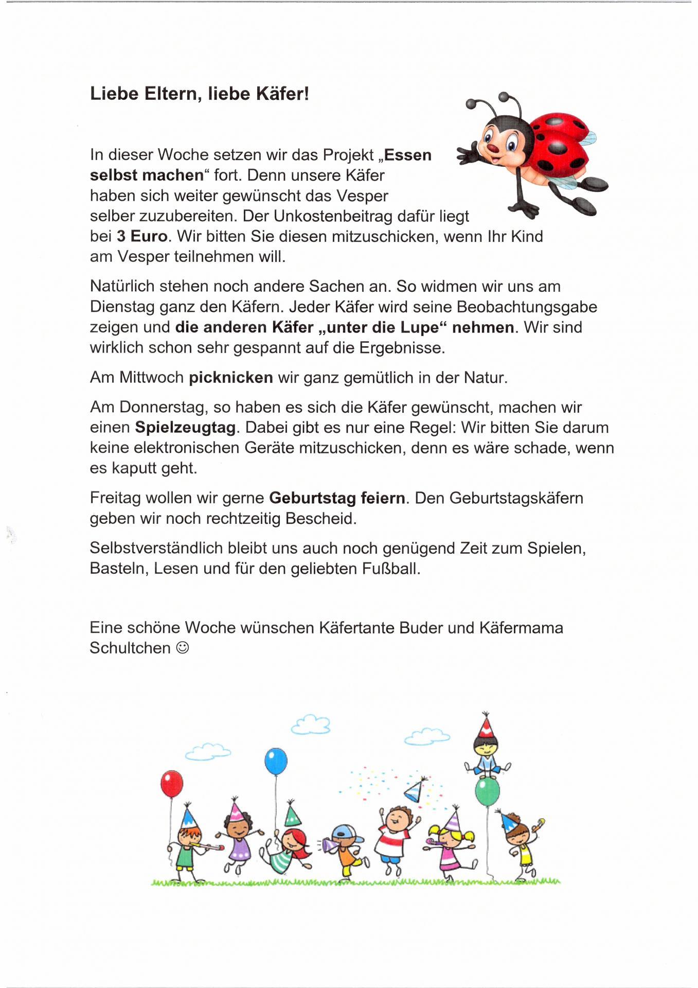 Käfer Wochenplan 02.06.