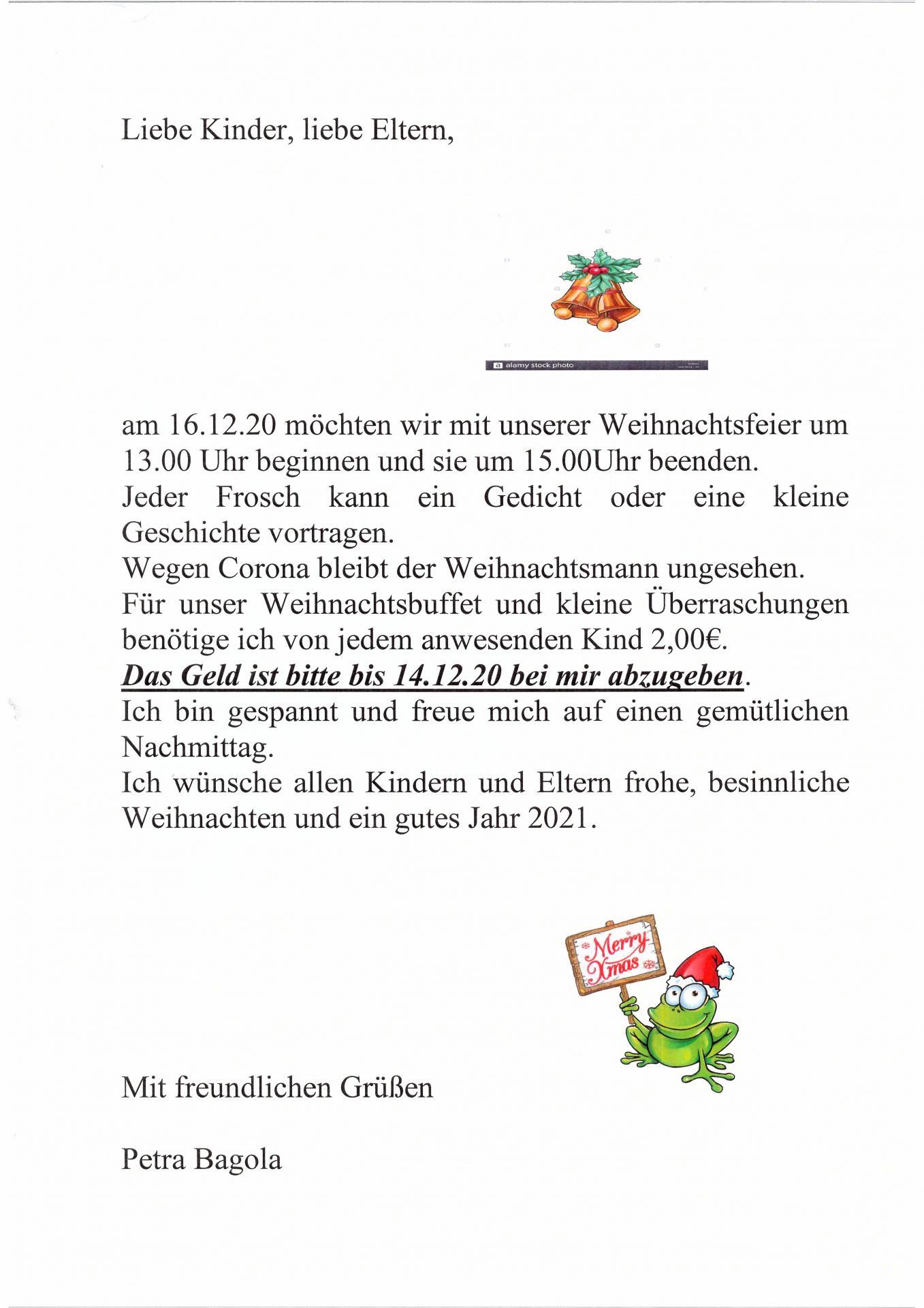 wochenplan Frösche 14.12. - 18.12. -1-