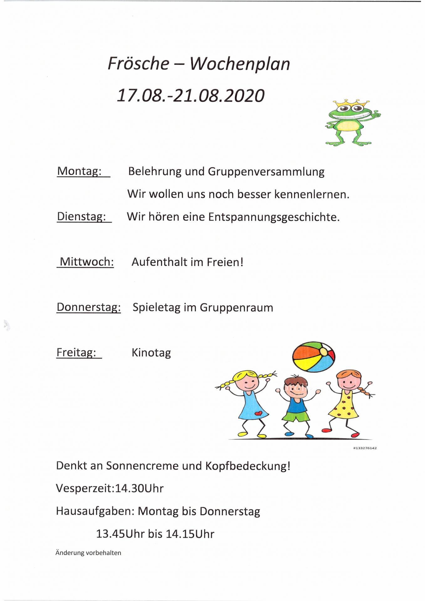 WP Frösche 17.08 - 21.08.