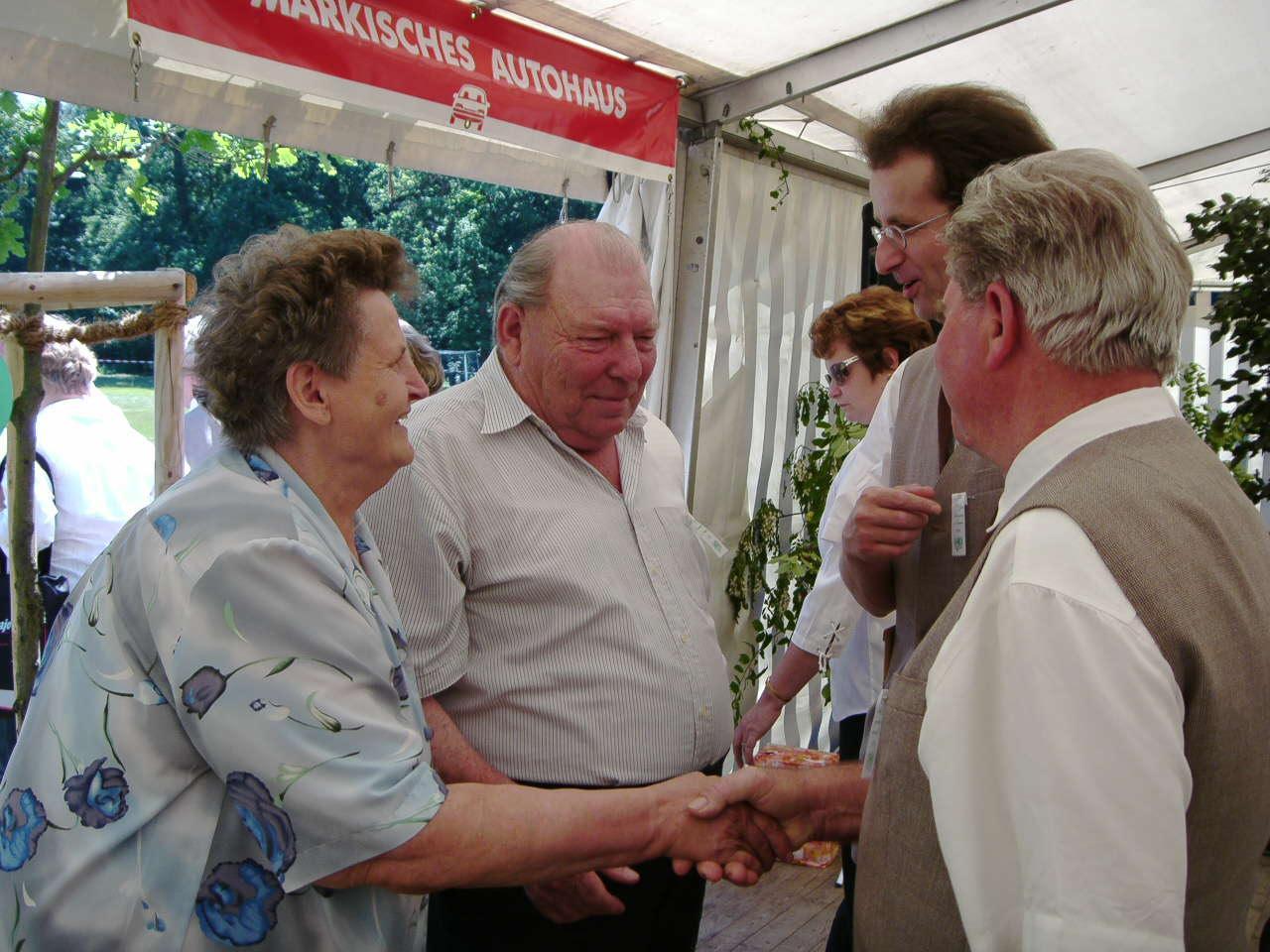 Heinz Schwarz und seine Frau 2006