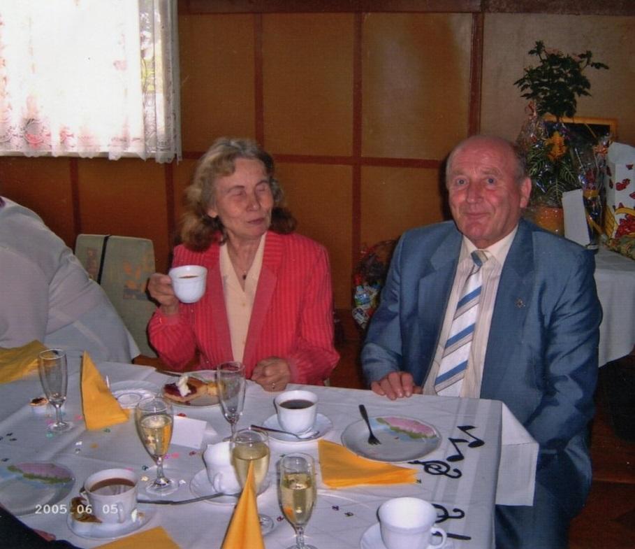 Pfarrer Zelmer mit Frau Gisela