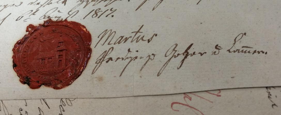 Unterschrift des Pfarrers