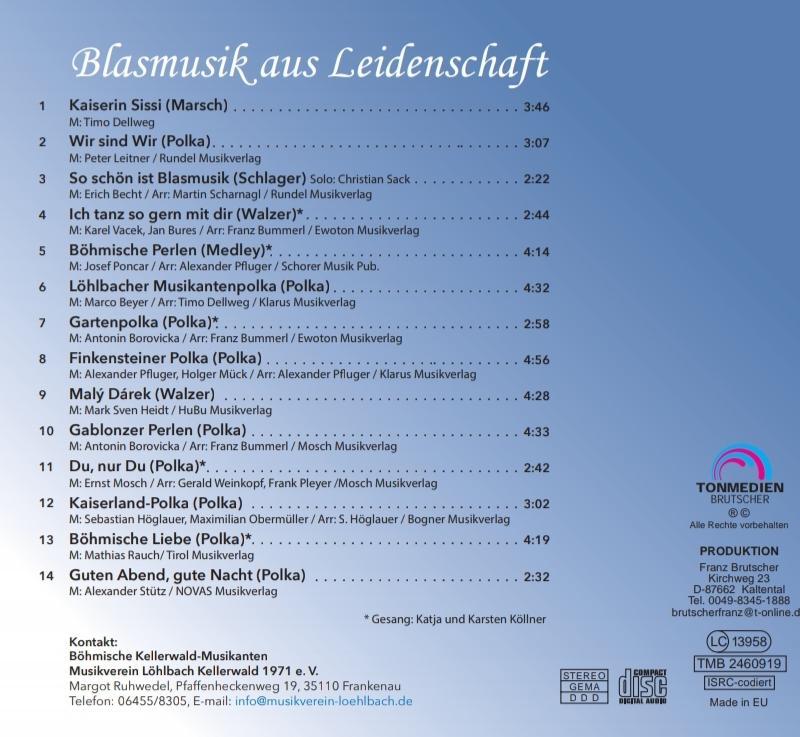 Rückseite CD