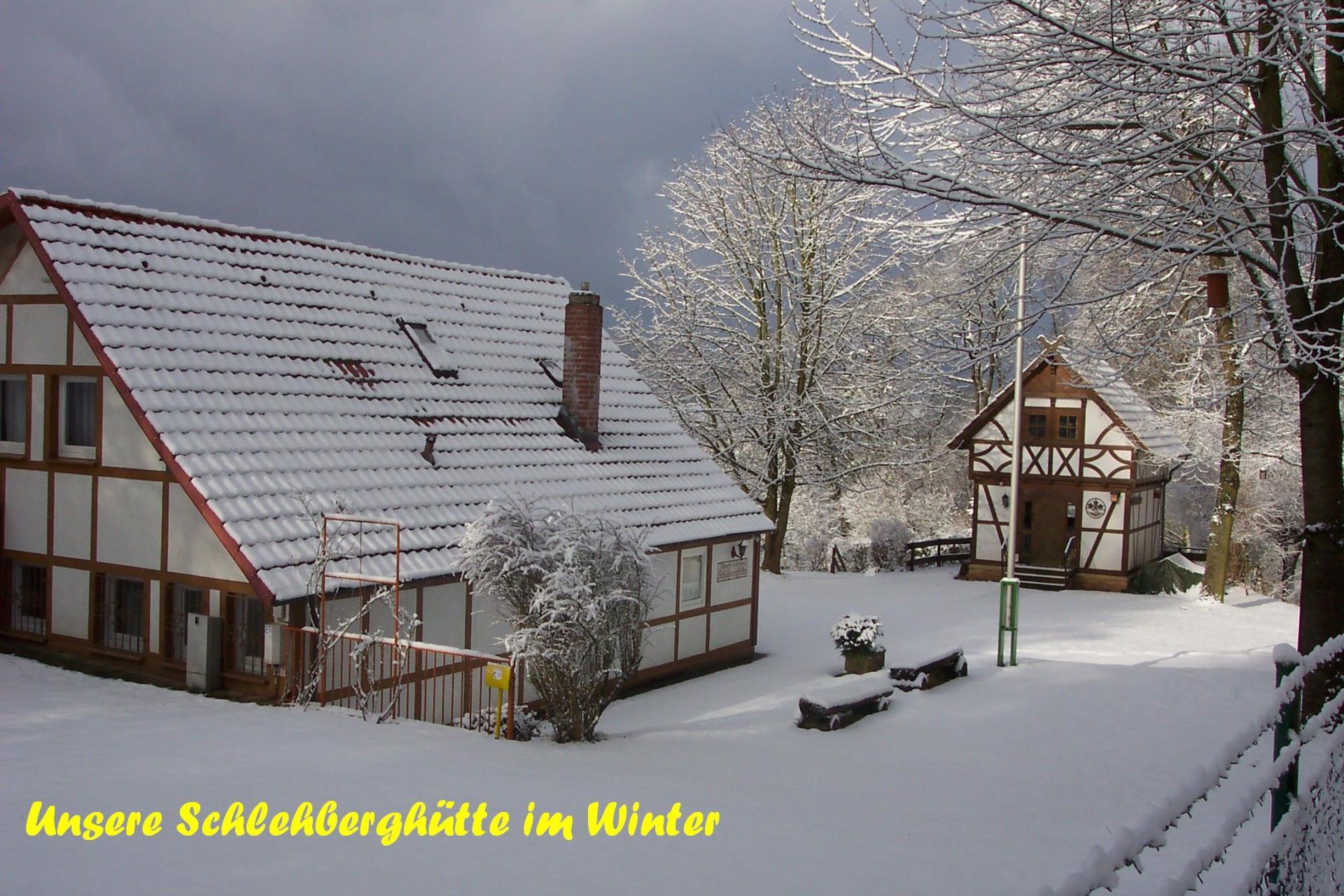 Schlehberghütte im Winter