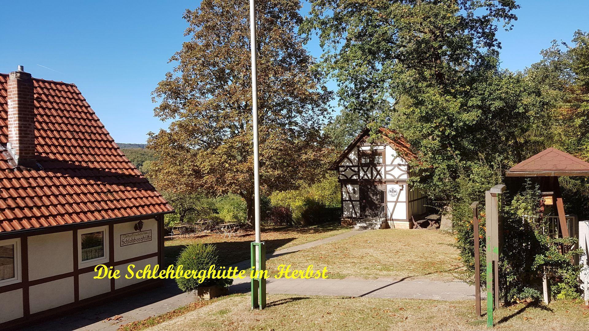 Hütte im Herbst