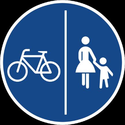 Zeichen 241 getrennter Geh- und Radweg