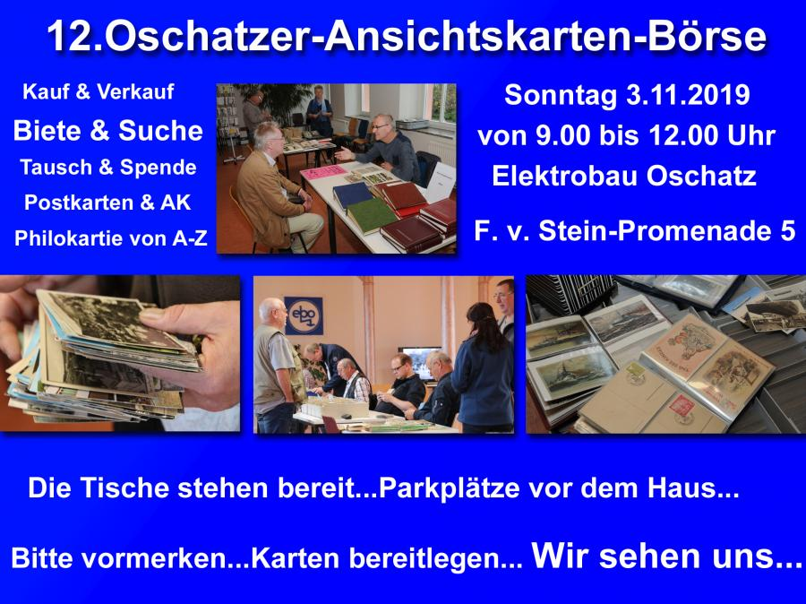 12.Oschatzer -Ansichtskarten -Börse