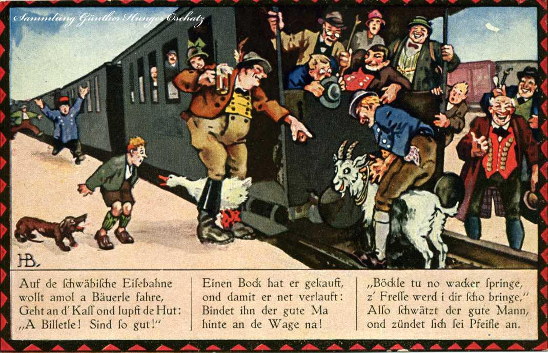 Auf de schwäbische Eisenbahne