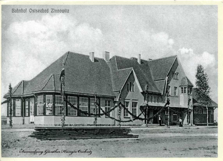 Bahnhof Ostseebad Zinnowitz 1911