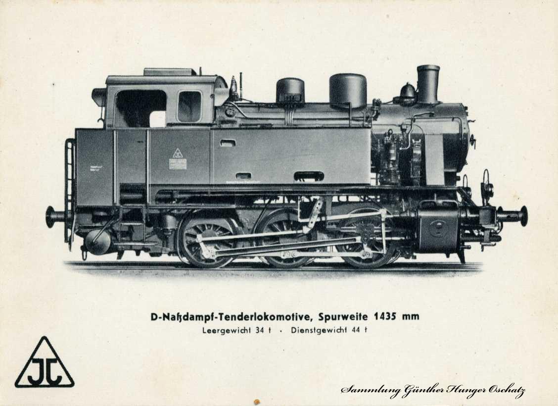 D-Naßdampf-Tenderlokomotive Spurweite 1435 mm