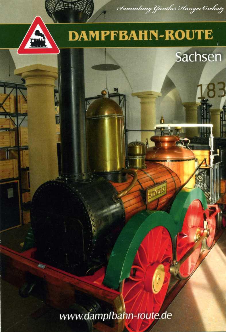Dampfbahn-Route Sachsen Der Nachbau der ersten deutschen Dampflokomotive Saxonia