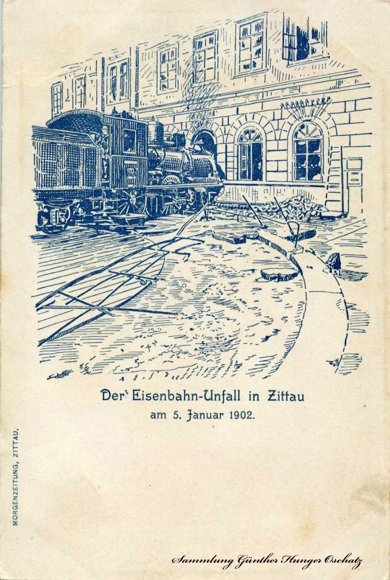 Der Eisenbahn-Unfall Zittau 1902