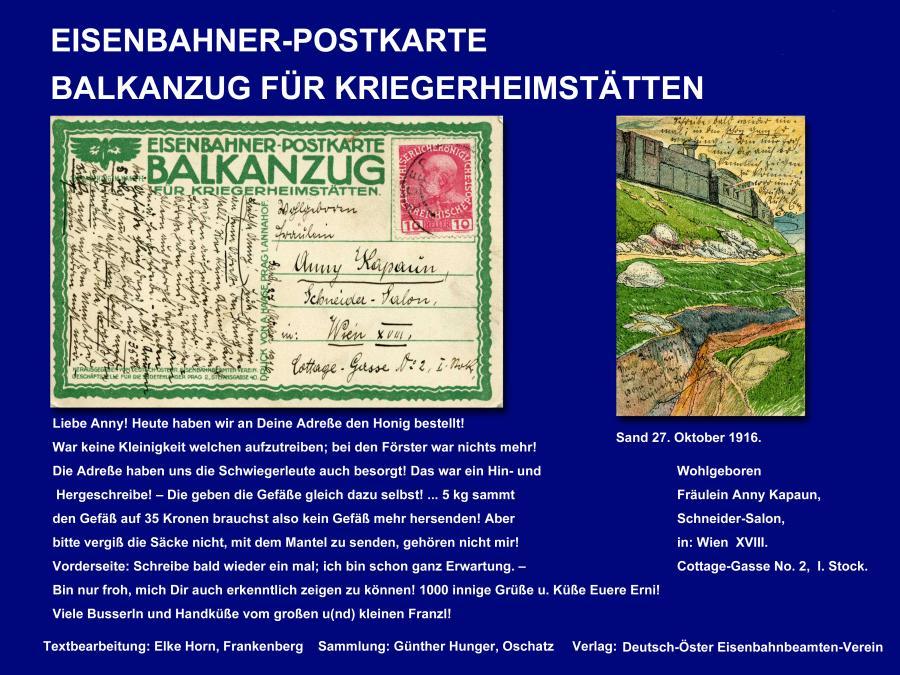 Eisenbahner-Postkarte.