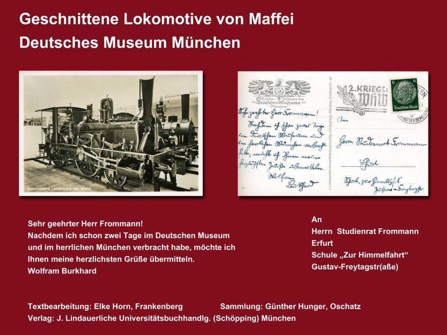 Geschnittene Lokomotive von Maffei
