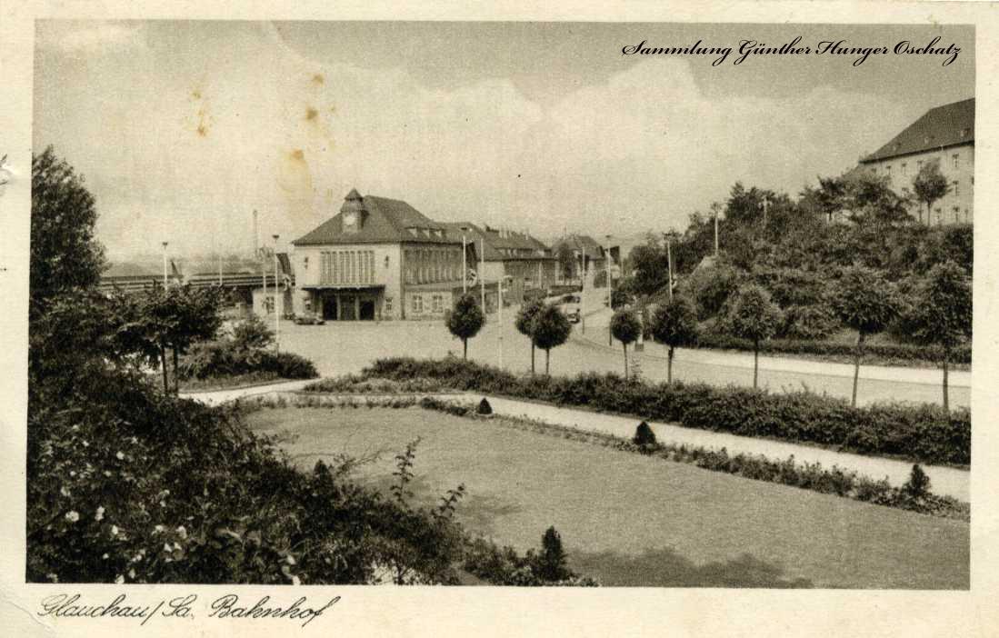 Glauchau / Sa. Bahnhof