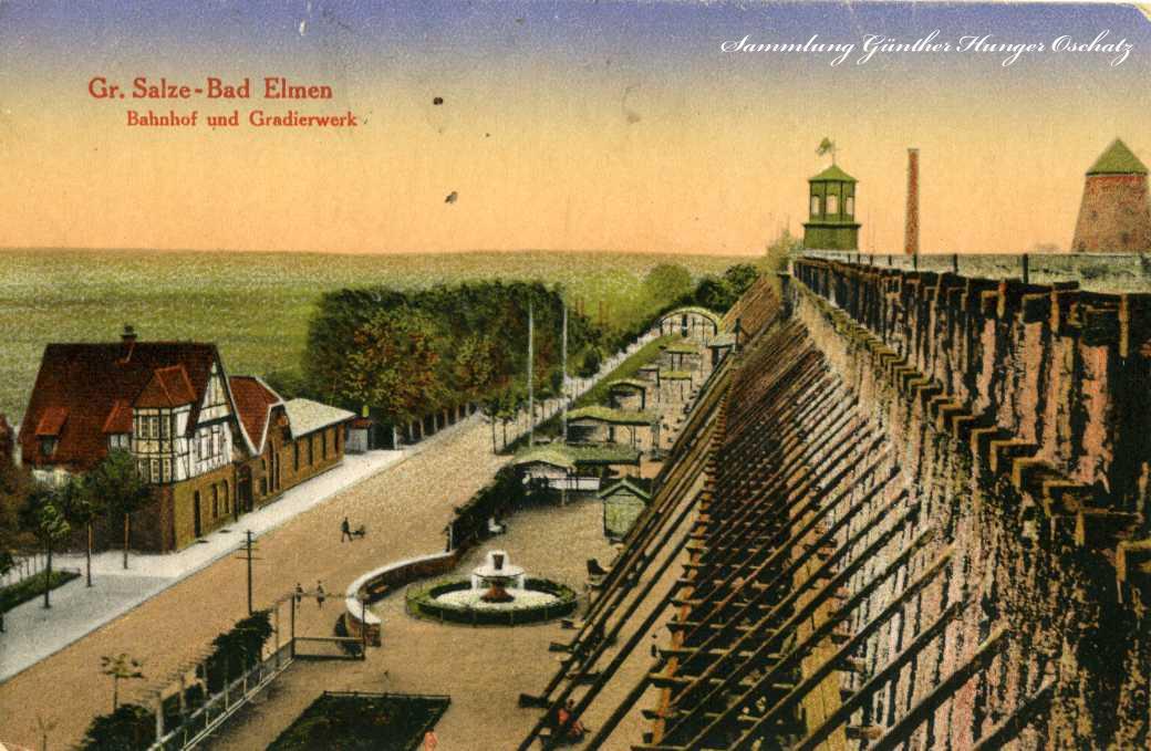 Gr. Salze-Bad Elmen Bahnhof und Gradierwerk