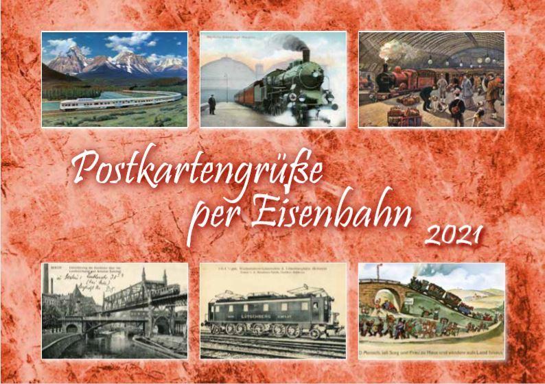Eisenbahn-Postkarten-Kalender 2021