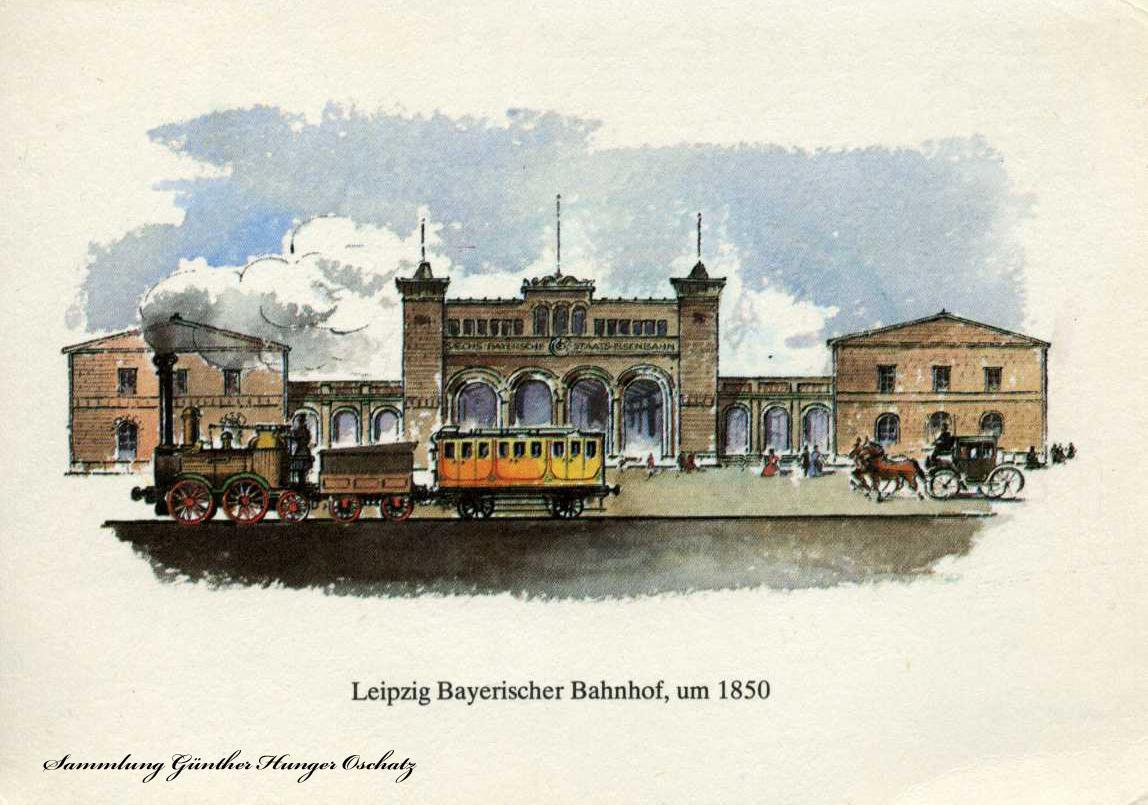 Leipzig Bayrischer Bahnhof um 1850