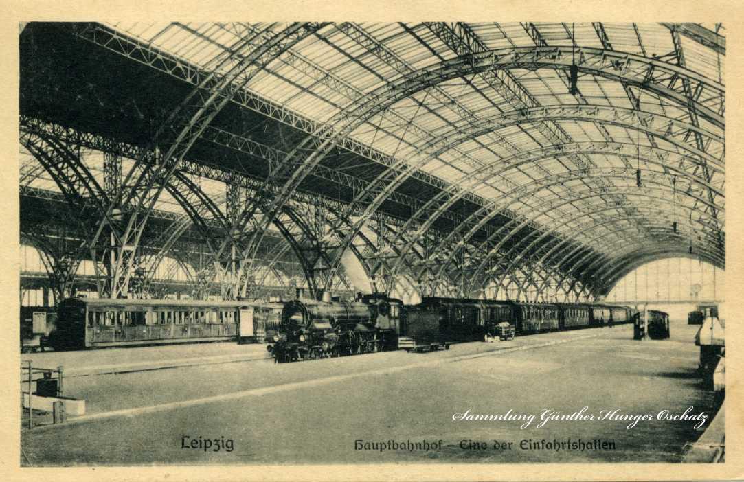 Leipzig Hauptbahnhof   Eine der Einfahrtshallen