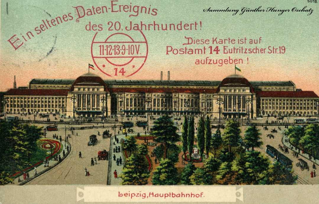 Leipziger Hauptbahnhof Ein seltenes Daten-Ereignis des 20.Jahrhundert
