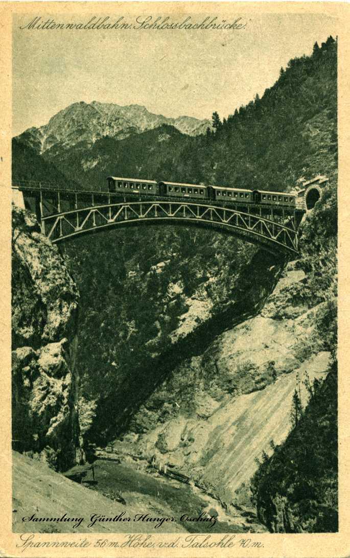 Mittenwaldbahn- Schlossbachbrücke