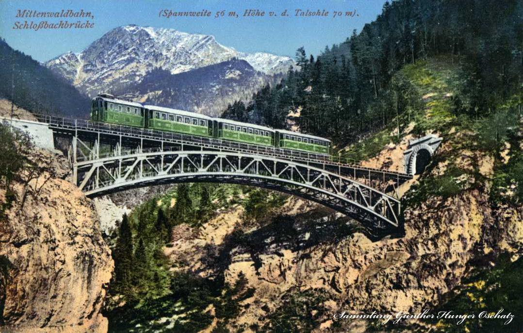 Mittenwaldbahn Schloßbachbrücke