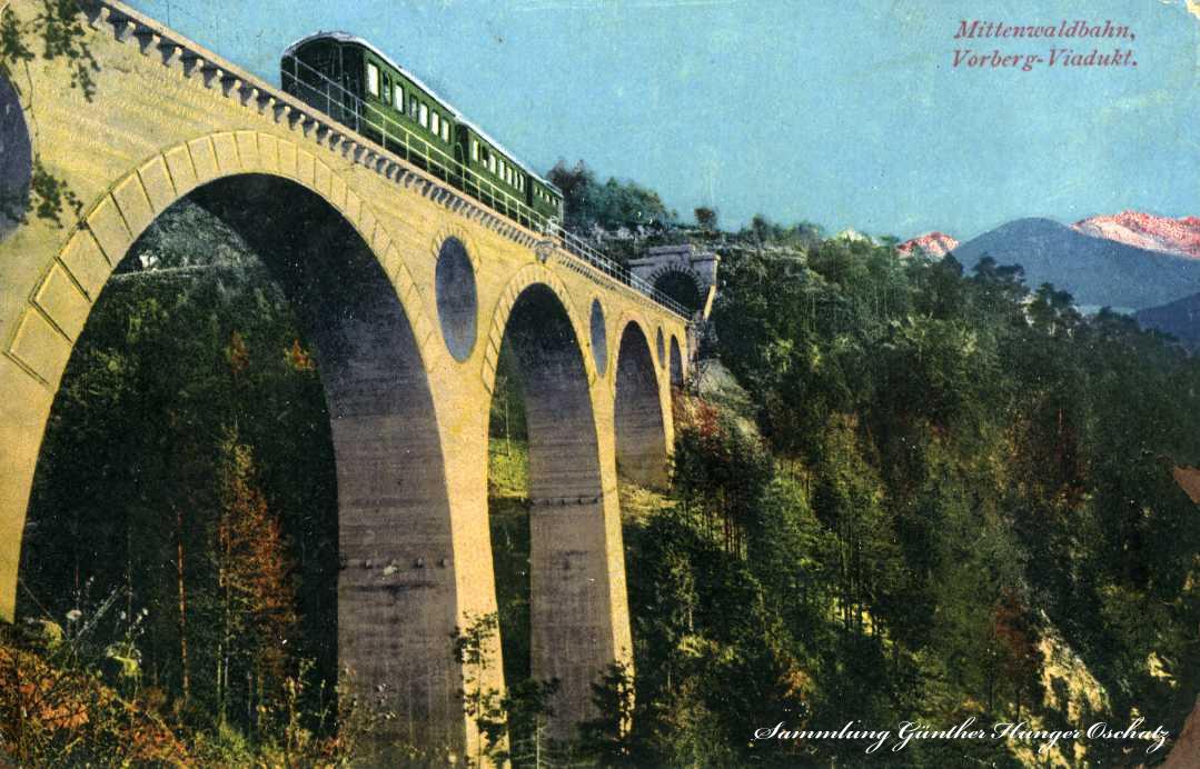 Mittenwaldbahn Vorberg-Viadukt