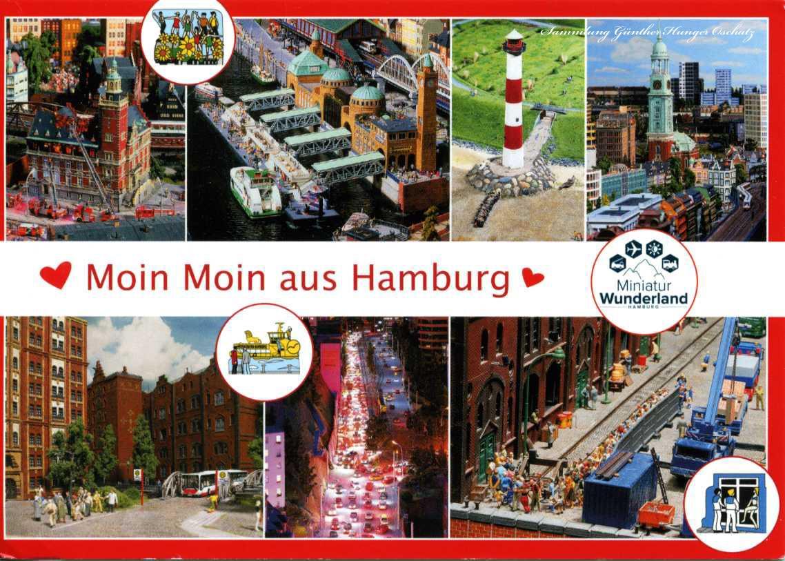 Moin Moin aus Hamburg Grüße aus Hamburg