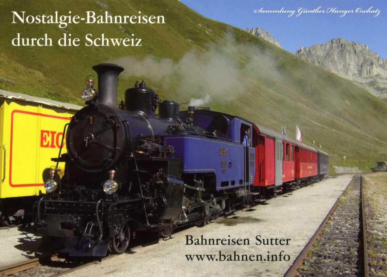 Nostalgie-Bahnreisen durch die Schweiz