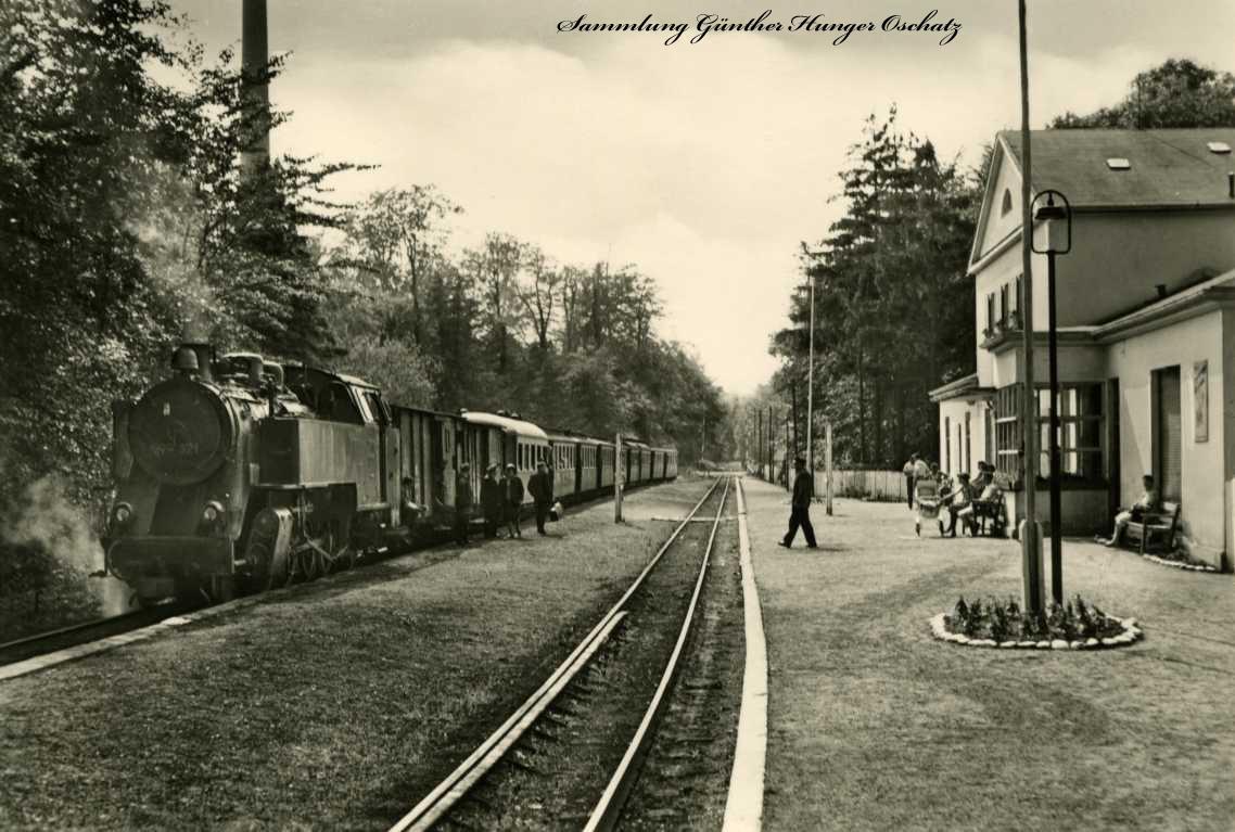 Ostseebad Heiligendamm Bahnhof mit Bäderbahn