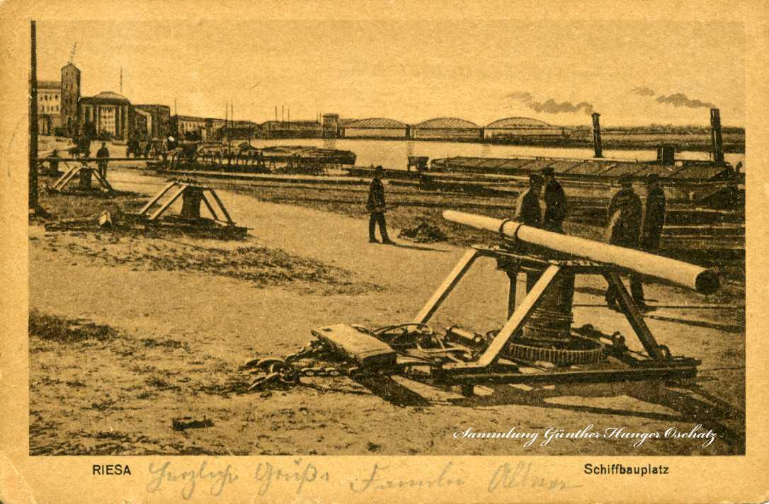 Riesa Schiffsbauplatz