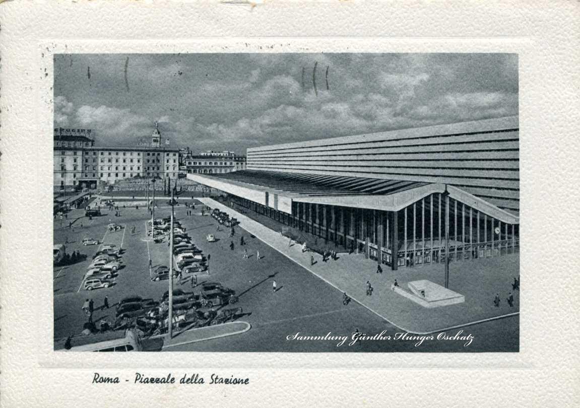 Roma- Piazzale della Stazione Der Bahnhofsplatz