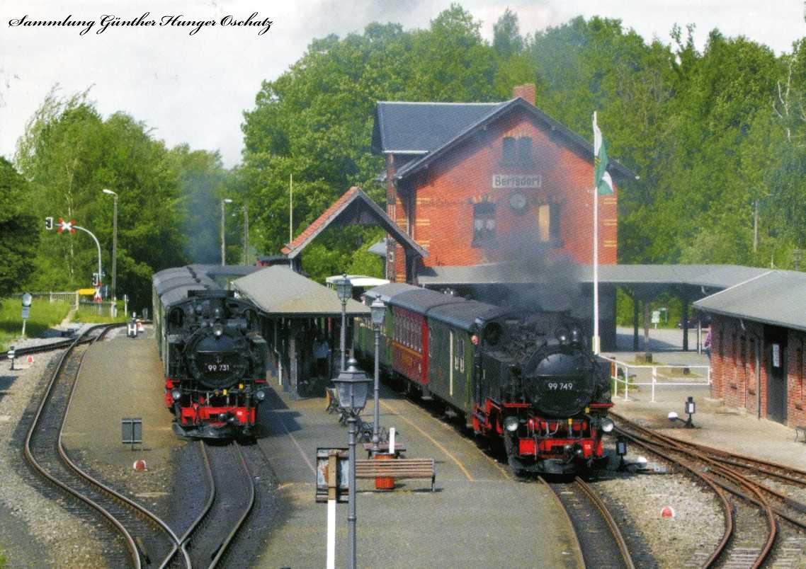 Schmalspurlokomotiven 99 731 und 99 749