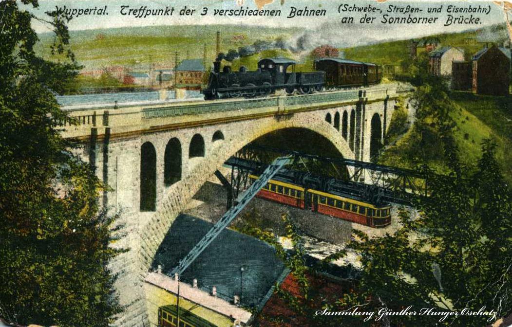 Wuppertal Treffpunkt der 3 verschiedenen Bahnen