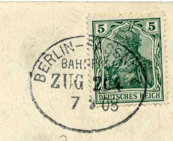 Zugstempel Berlin-Sassnitz 204