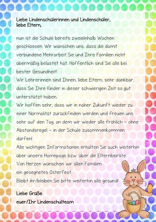 Osterbrief