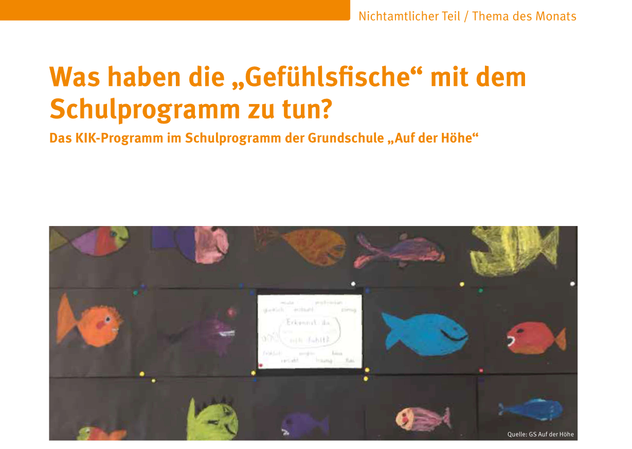 Beitrag der GS auf der Höhe zum Schulverwaltungsblatt 8/2020 KIK-Programm und Schulentwicklung