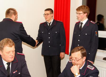 2014 Jahreshauptversammlung Luca Grabeleu und Matthias Buhk