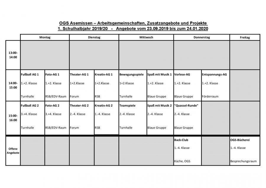 AG Stundenplan 2019-20 1.HJ