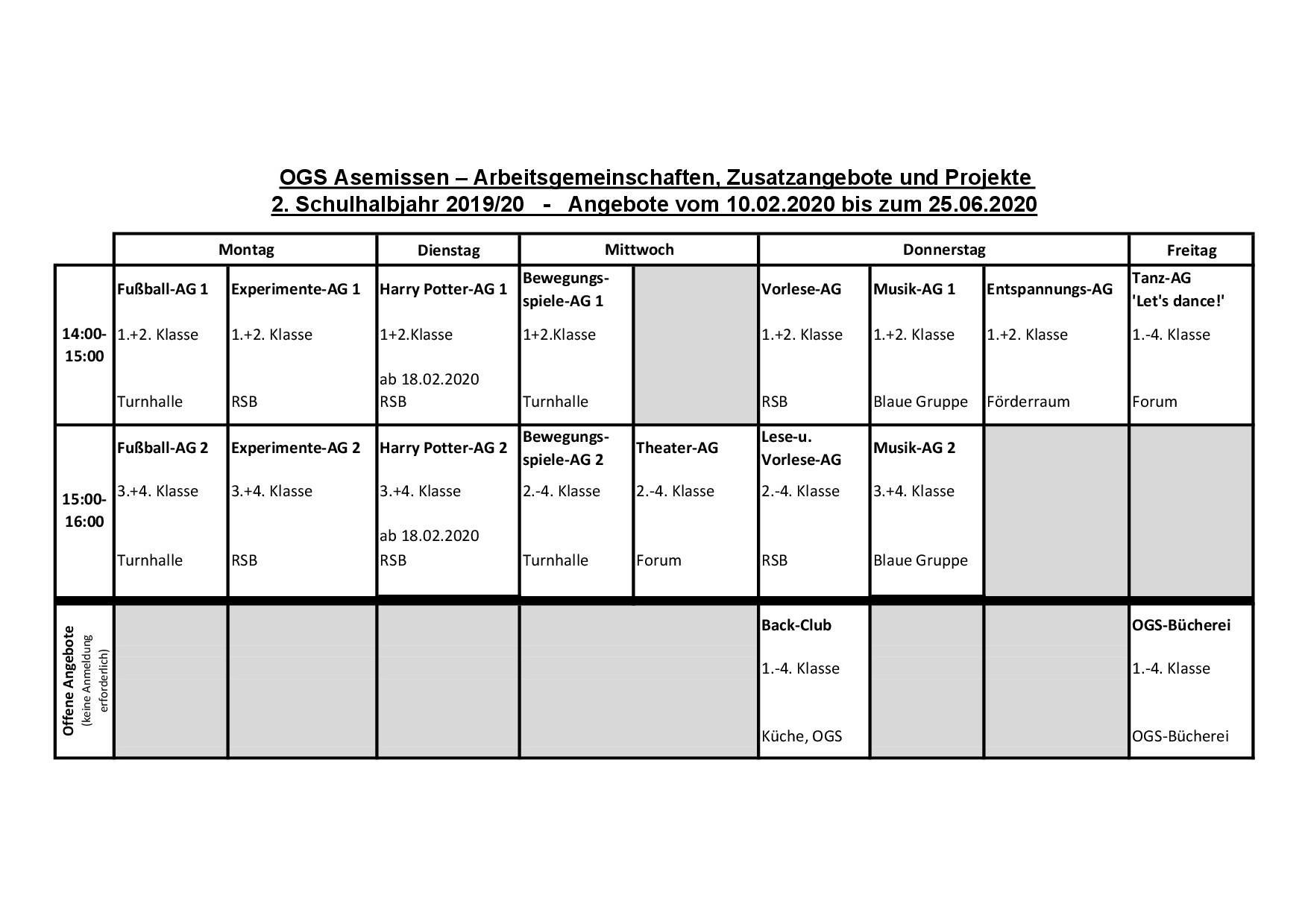 AG Stundenplan 2019-20 2.HJ