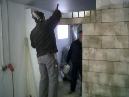 Umbau der Wache, Maurerarbeiten 5