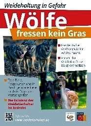 """Gehegeschild """"Wölfe fressen kein Gras"""""""