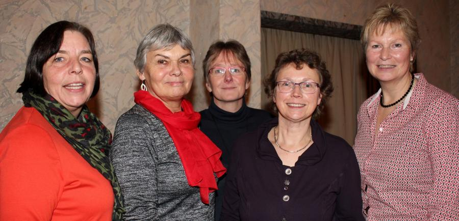 v.l.n.r.: Anke Rull, Doris Meinen, Silvia Altmann, Elke Diermann, Ingrid Dierks