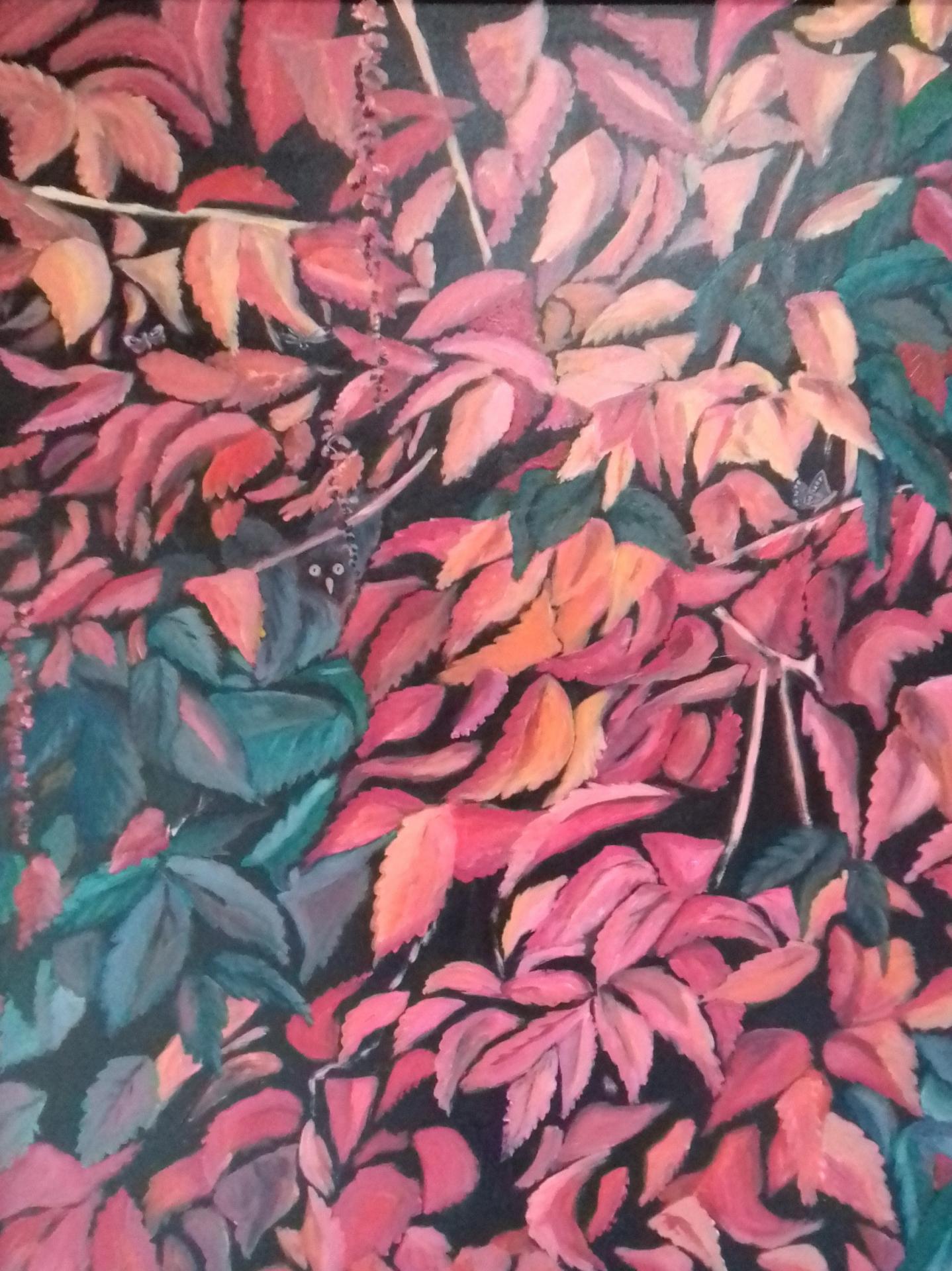 Kletterwein-1   2019   Acryl auf Leinwand   80 x 100 cm