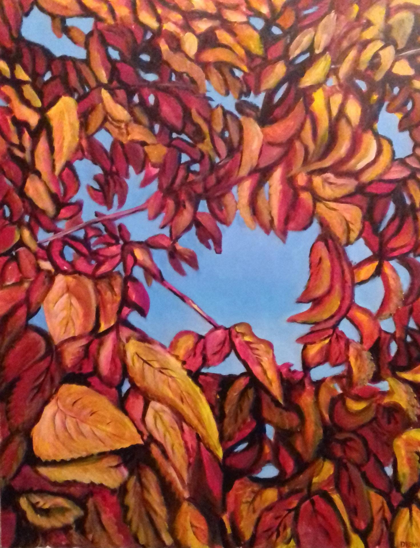Walnussbaum   2019   Acryl auf Leinwand   80 x 100 cm