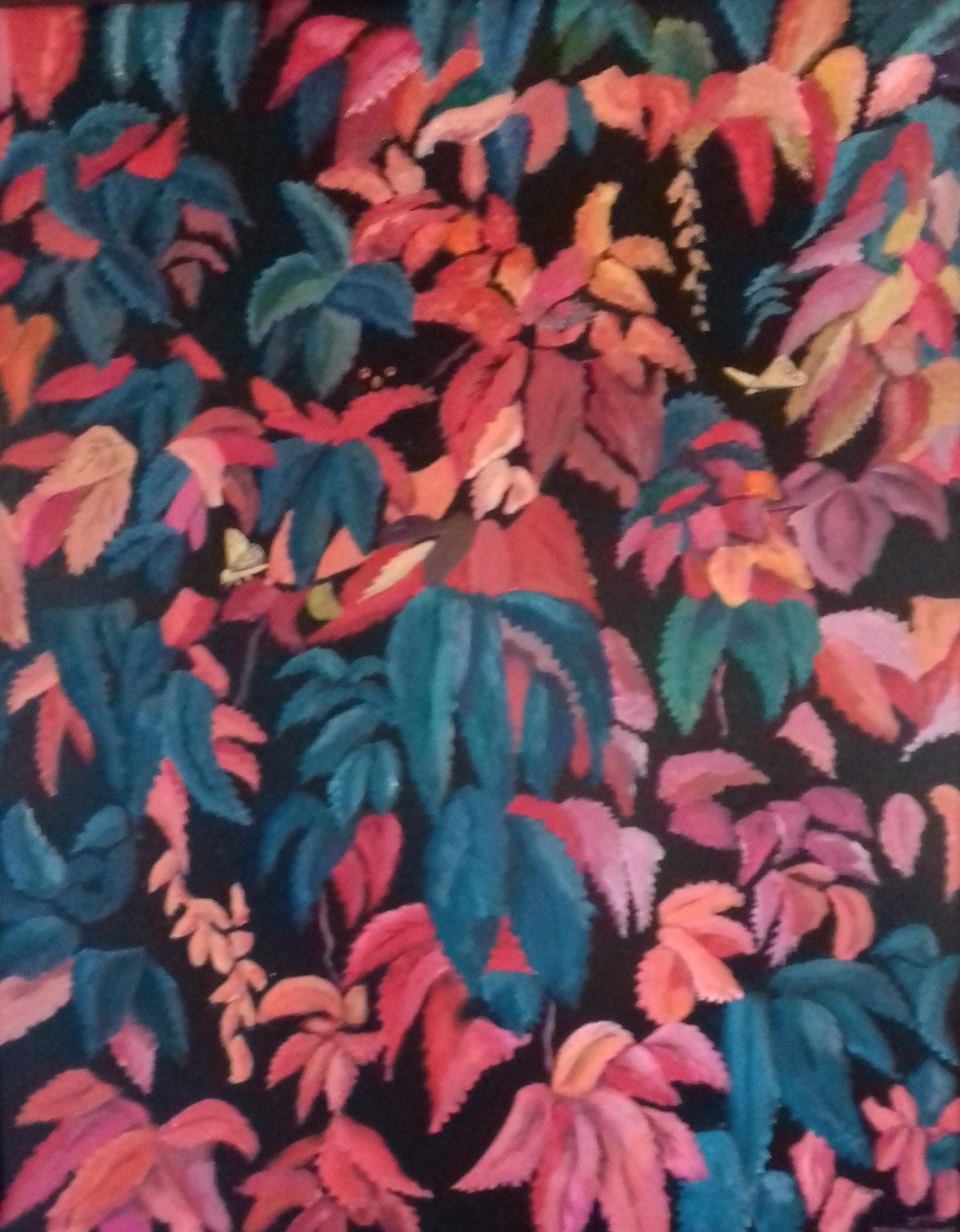 Kletterwein-2   2019   Acryl auf Leinwand   80 x 100 cm