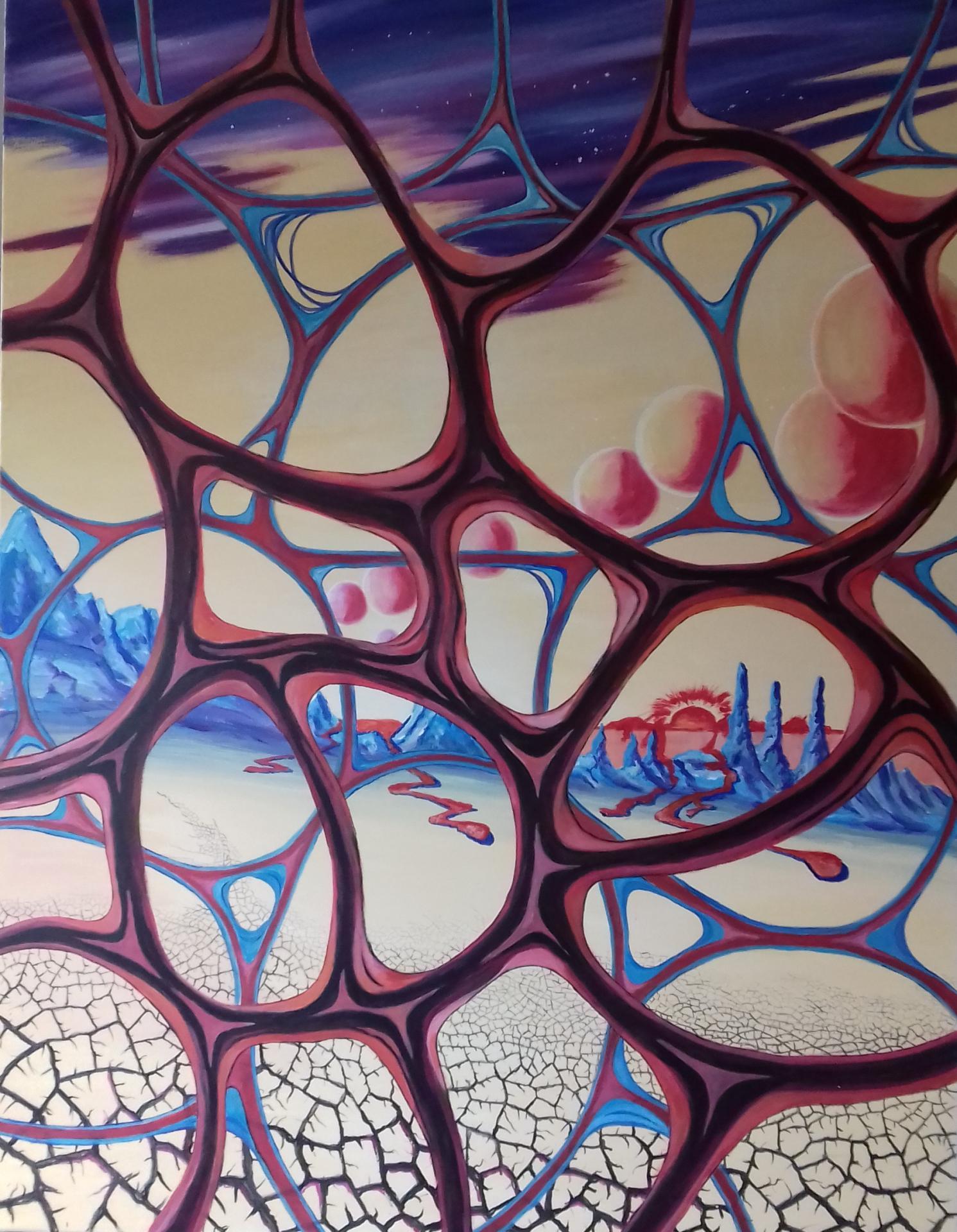 Unendlichkeit   2020   Acryl auf Leinwand 155x120 cm