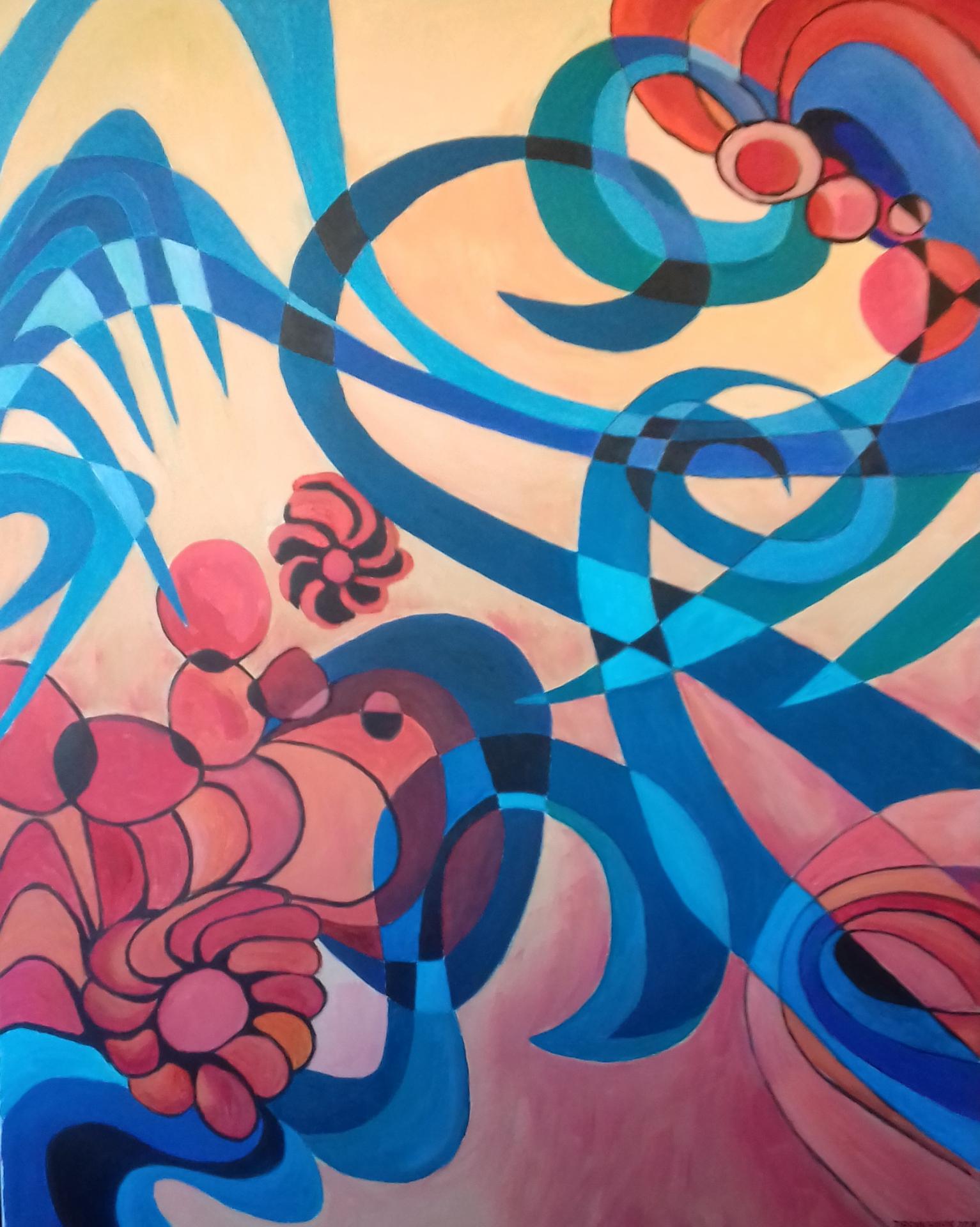 Sumpf   2020  Acryl auf Leinwand   80 x 100 cm