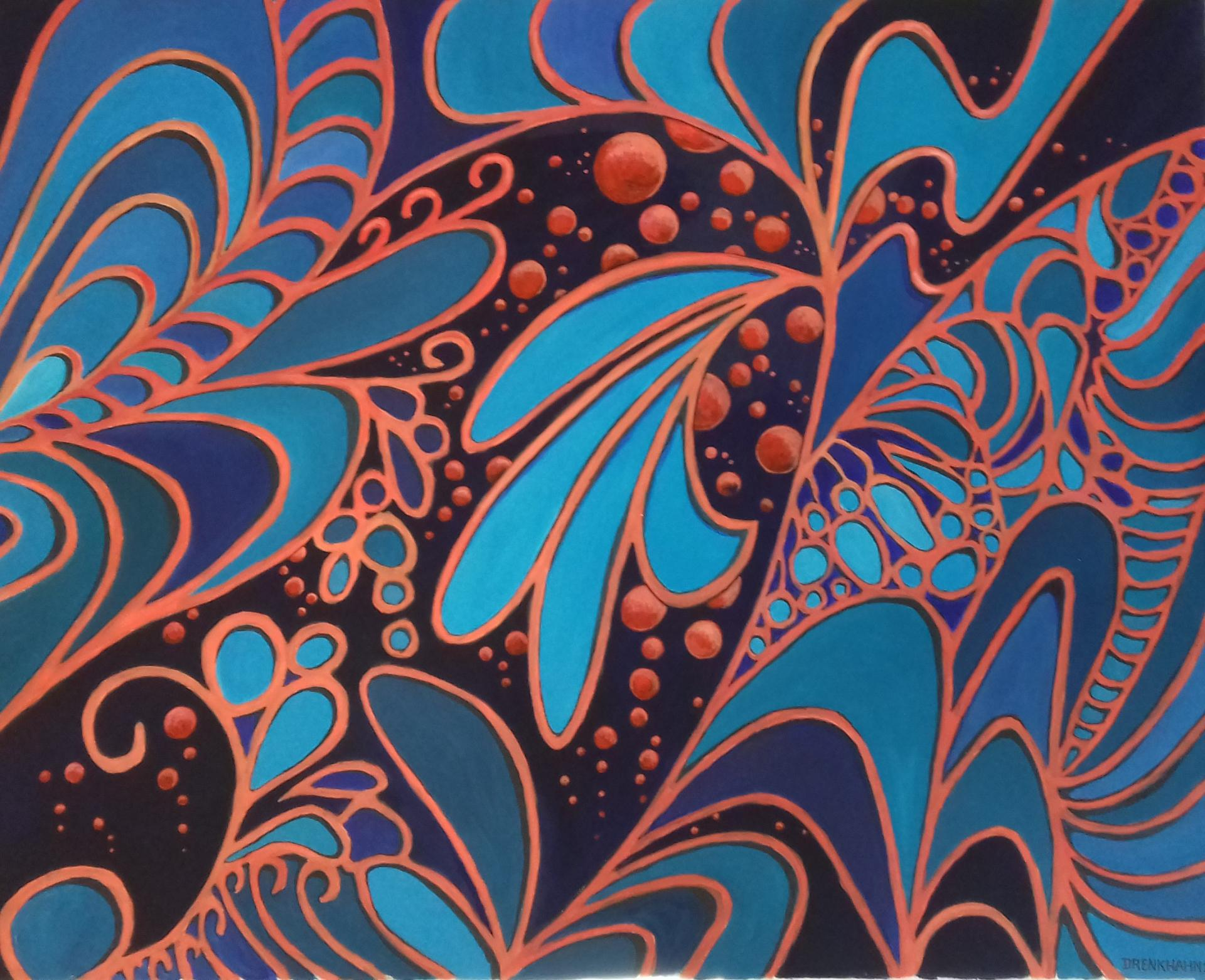 Universum   2020  Acryl auf Leinwand   80 x 100 cm