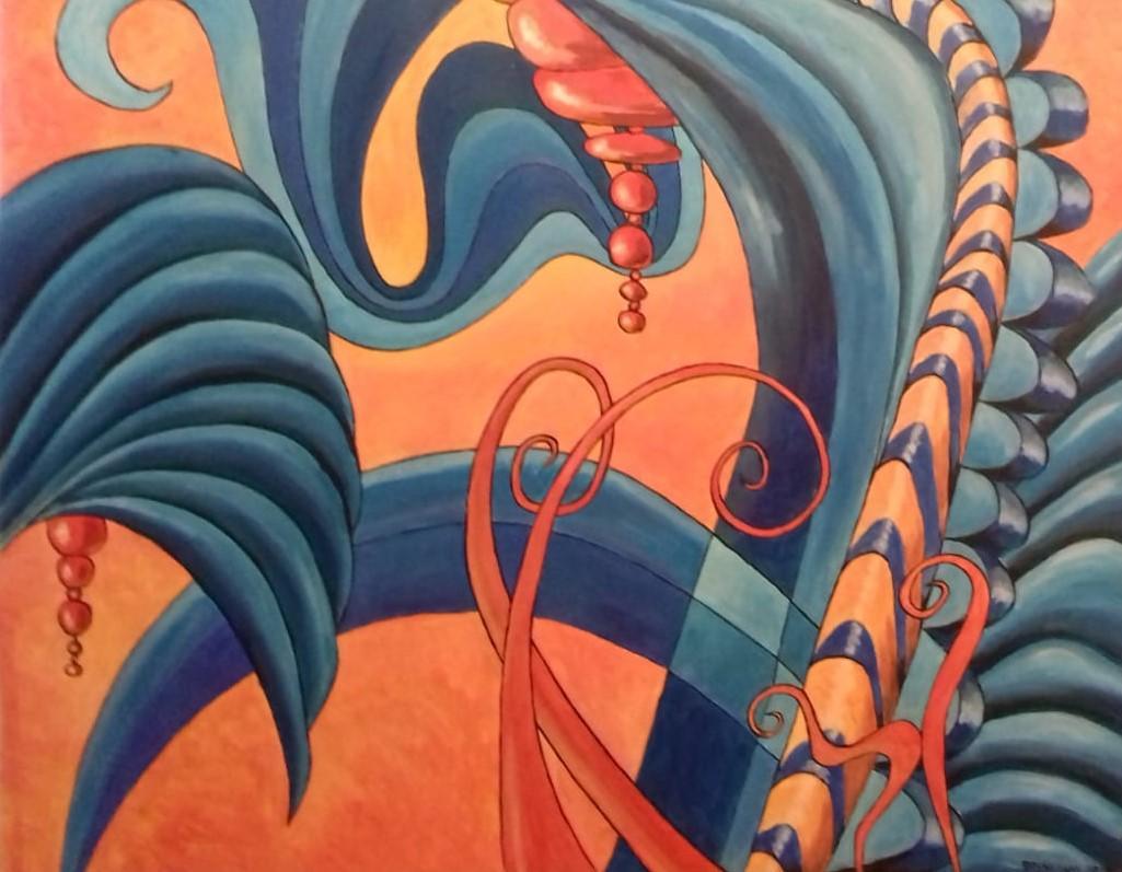 Das Paradies   2020  Acryl auf Leinwand   80 x 100 cm